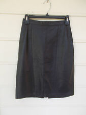 Outerwear  By Phoenix Black Leather Pencil Skirt - Size 5/6