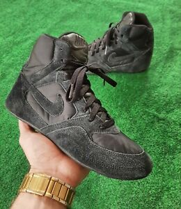 Nike Boxing Shoes Mid Boxing Boots 2008 US Mens 8 Rare Suede