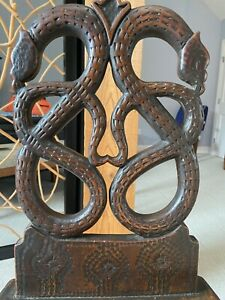 Fantastic Black Forest Carved 19th Century Snake Serpent Chair Pennsylvania