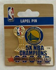 2017 5X PIN NBA CHAMPIONS GOLDEN STATE WARRIORS CURRY CHAMPIONSHIP