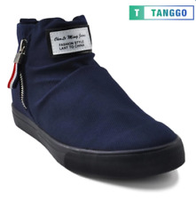 Tanggo High Cut Zip Sneakers Men's Casual Shoes 9263 (Navy Blue)