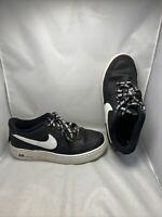 Boys/Mens  Nike Af1s  NBA Leather Trainers Black/white  Size 5.5 Vgc Free P&p