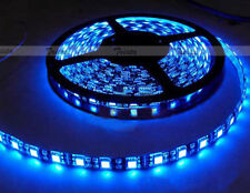 Waterproof Blue 5M 300 Leds 60/M 5050 SMD LED Flexible Strip Light Black PCB J01