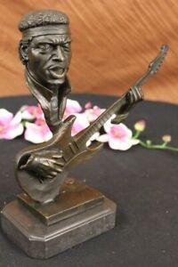 Collectible Lost Wax Method Jimi Hendrix Bronze Sculpture Classic Artwork Figure