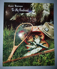 Vintage Birthday Card to Husband (1960s-1980s fishing themed)