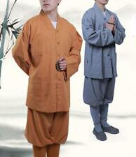 Shaolin Buddhist Monk Meditation Kung Fu Uniform Cotton Suit Temple Tai Chi sets