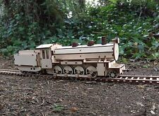 Wooden 2-8-0 class Steam Train kit with its Tender laser cut for self assembly
