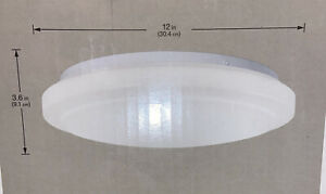 Hampton Bay 12in LED Round White Finish Ceiling Light 1000 236 597