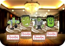 Halloween Frankenstein Mix 12 Edible STANDUP Cake Toppers Decoration Spooky Fun
