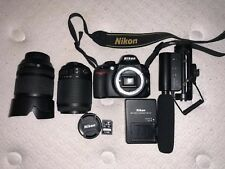 Nikon D3100 Digital Camera Black Bundle AF-S DX VR 18-105mm and 55-200mm Extras