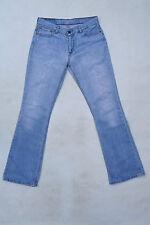 LEVIS 529 Femme Vintage Délavé Effiloché Bootcut Blue Denim Red Tab W30 L34 Uk12