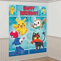6ft Pokemon Pikachu Happy Birthday Giant Scene Setter Decoration by AMSCAN