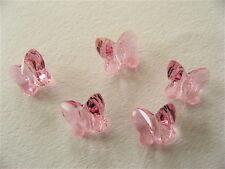 8 Light Rose Swarovski Crystal Butterfly Beads 5754 6mm