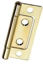 "Non-mortise Hinges - Bright Brass Plated - 2"" - w/Screws.  Bulk Lot (100) Hinges"