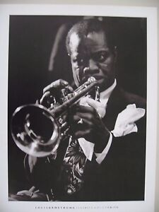 LOUIS ARMSTRONG,NEW YORK 1944,PHOTO BY BRADLEY SMITH, AUTHENTIC 1992 PHOTO PRINT