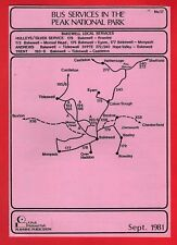 Peak Park Bus Timetable ~ Bakewell Local Services: Hulleys Trent SYPTE etc 1981