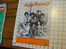 1975 sheet music: ENJOY YOURSELF by Gamble & Huff, performed by The Jacksons
