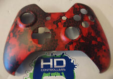 """Custom Xbox One Controller """"Defected - Red"""" Front Shell w/tools (Matte)"""