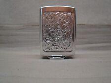 silver aluminum embossed hold a pack vintage cigarette pack holder hold a pak