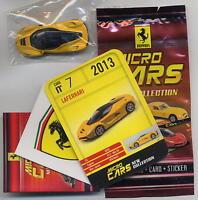 Micro Cars 2015 FERRARI LaFerrari #07 +card+sticker+bag+bpz 1/100 Kyosho MIB