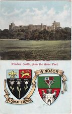 Heraldic Crest, Castle From Home Park, WINDSOR, Berkshire