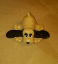 "VTG 1984 Tonka 2"" Pound Puppies Big Ears Laying Down PVC Toy Dog PPI / LGT"