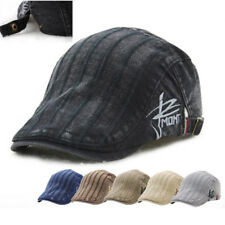 UK Unisex Men's Vintage Embroidery Gatsby Cap Flat Cabbie Beret Newsboy Sun Hat