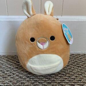 """NWT Keely • Squishmallow 8"""" Kangaroo • Tan Plush Kellytoy Squishmellow"""