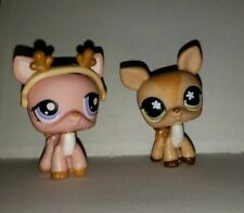 Littlest Pet Shop Authentic Deer 634 and Deer 1413 with Antlers