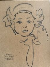More details for joseph simpson 1879-1938 pencil sketch of a girl