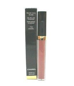 Chanel Rouge Coco Gloss Moisturizing Glossimer ~ 716 Caramel ~ 5.5 g /BNIB