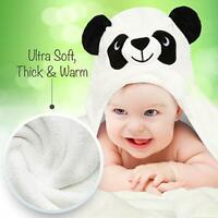 Baby Christmas Gift Towel in Panda Bear Design Hooded Extra Large Super Soft
