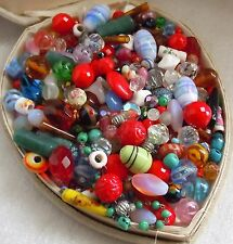 Antique Vintage Crystal & Glass Venetian Trade Loose Bead Estate Lot, +300pc