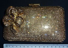 VINTAGE CRYSTAL HAND BAG CLUTCH WITH CRYSTALS AND INTRICATE DECORATIVE <t3
