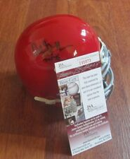 ARCHIE GRIFFIN SIGNED OHIO STATE ALTERNATE RED MINI HELMET W/ JSA COA + INSCRIP