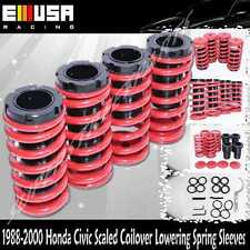 EMUSA Coilover Lowering Coil Springs Set FOR Honda Civic Delsol CRX Accord