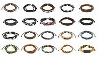 Mens / Womens Real Leather Surfer Style Bracelet / Wristband - Choose Your Style