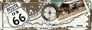 Nostalgic Art Route 66 Kompass Lesezeichen Blechschild 15 x 5