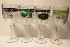 TERVIS TUMBLER WINE GLASS CLEAR INSULATED PLASTIC LOT OF 4 - EUC