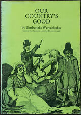 Our Country's Good by Timberlake Wertenbaker Royal Court Writers Series 1989