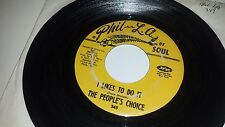 """THE PEOPLE'S CHOICE I Likes To Do It / Big Ladies Man PHIL L.A. SOUL 45 7"""""""