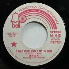 Rock Promo 45 Dawn - It Only Hurts When I Try To Smile / It Only Hurts When I Tr