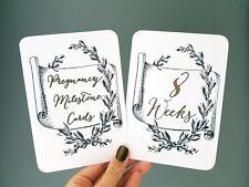 handmade pregnancy Milestone cards photo prop pregnancy gift scroll