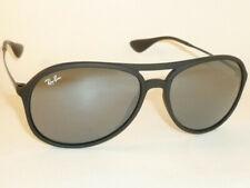 New Ray Ban Alex Sunglasse Matte Black Rubber RB 4201 622/6G  Gray Mirror Lenses