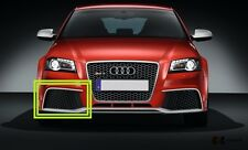 NEW GENUINE AUDI RS3 11-13 FRONT BUMPER RIGHT O/S LOWER GRILL BLACK 8P0807682L