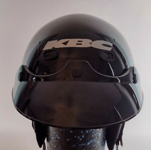 KBC TK 410 DOT Motorcycle Half Helmet Black Gloss Unisex Medium 57-58 cm w/Visor