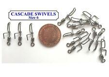 100 x CASCADE MATCH CLIP DOWN SWIVELS Size 6 (New Slimline Variety)