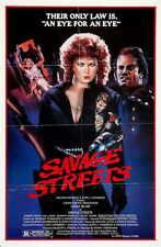 SAVAGE STREETS Movie POSTER 27x40 B Linda Blair John Vernon Sal Landi Robert
