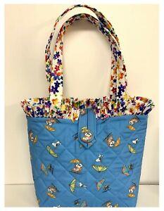 NEW Handmade Tote Purse bag Snoopy Peanuts each Summer Bluefaffygiraffe