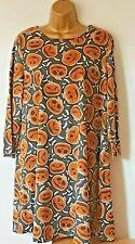 New Evil Pumpkin Tunic T shirt Halloween Dress Fancy Dress L bust 41ins 16 - 18